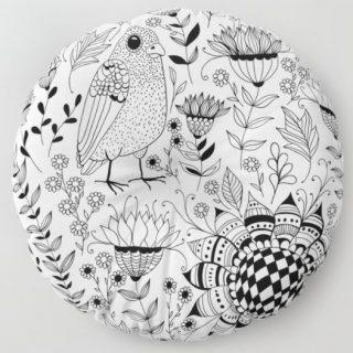 Yer Minderi - Kuşlar ve Çiçekler