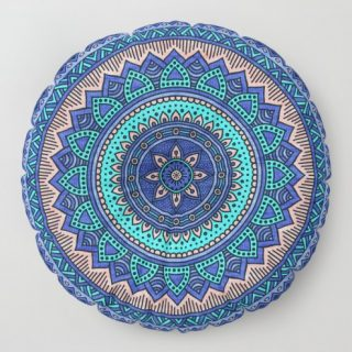 Yer Minderi - Suzani Mavi