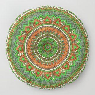 Yer Minderi - Suzani Yeşil