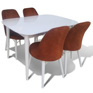 Aysan Beyaz Lake Mutfak Masa & 4 Sandalye