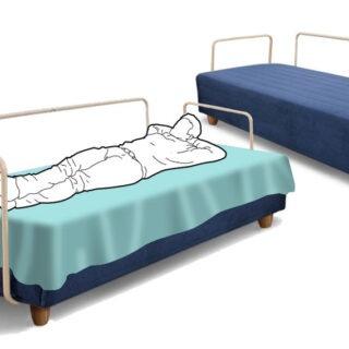 Serbora Üçlü, çift kollu, yataklı Kanepe